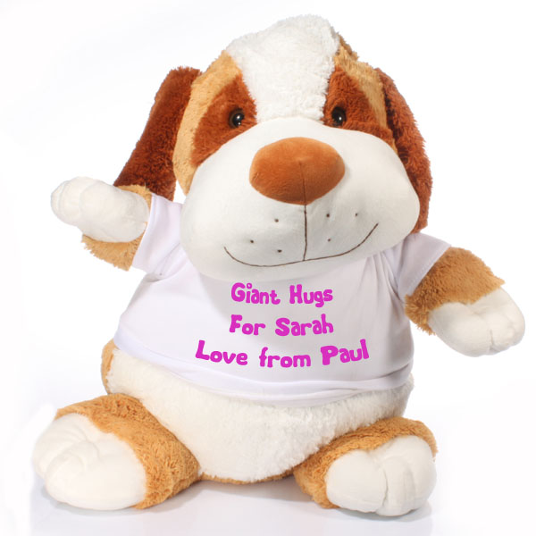 Extra Large Personalised Puppy Soft Toy - Dogs Gifts