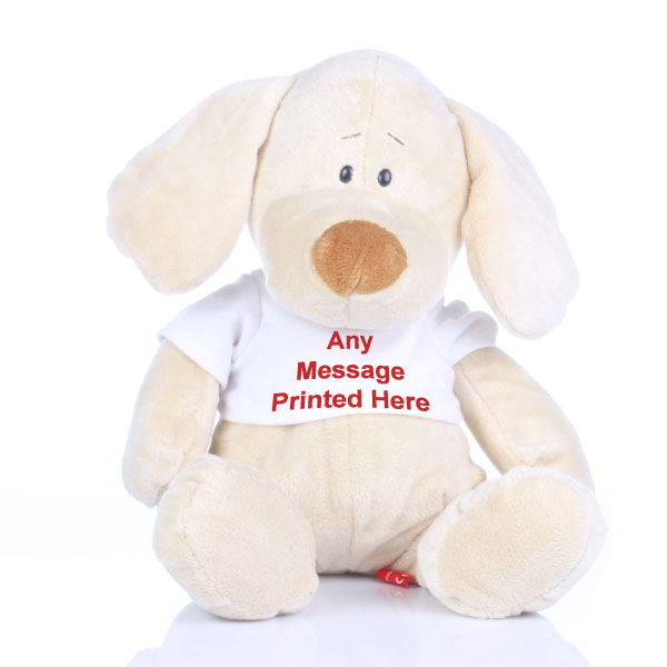 Personalised Valentines Day Puppy Soft Toy