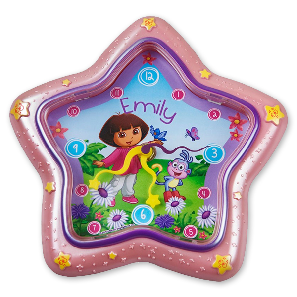Dora the Explorer Star Clock - Children's Birthday Your Kids Bday - 5th Birthday