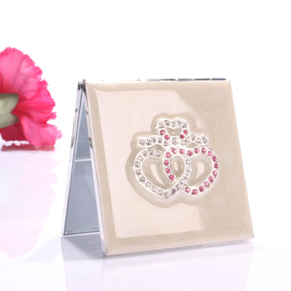 Crystal Romance Handbag Mirror - Handbags Gifts