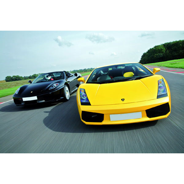 Ferrari And Lamborghini Driving Blast