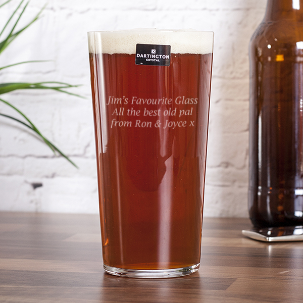 Personalised Dartington Just The One Pint Beer Glass - Beer Glass Gifts