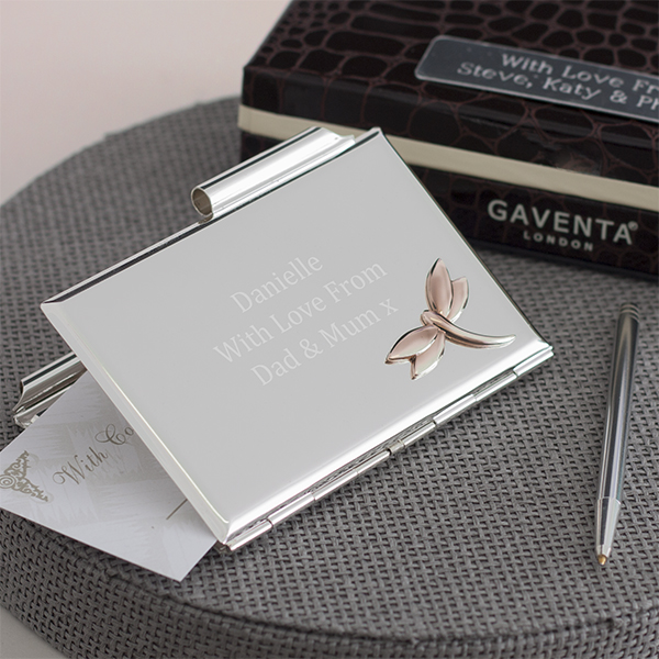 Engraved Luxury Dragonfly Notebook and Pen Set - Notebook Gifts