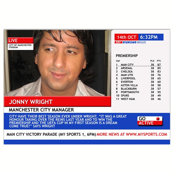 Personalised Dream Team Manager Cover