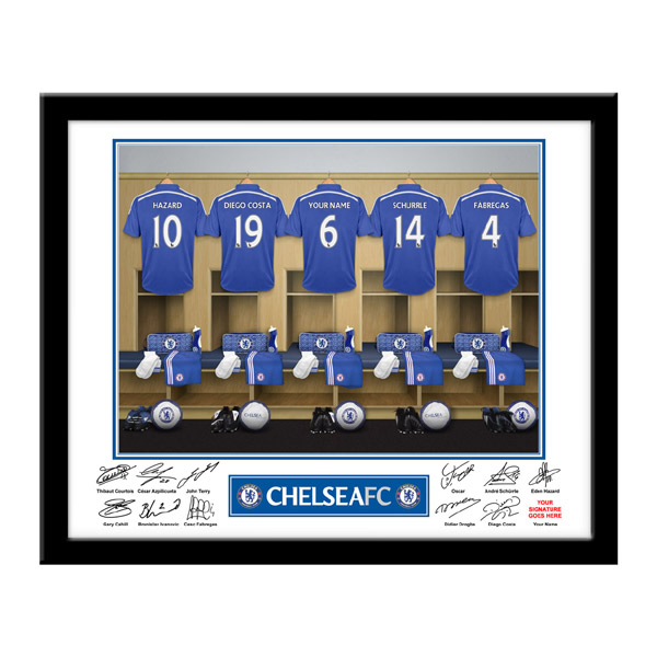 Personalised Chelsea Dressing Room Framed Photo - Chelsea Gifts