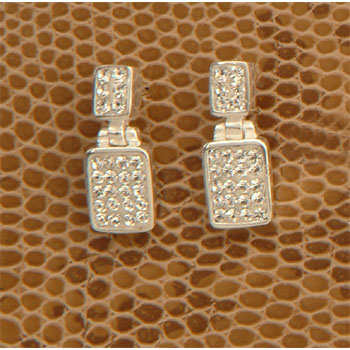 CZ Square Earrings