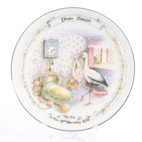 Personalised Early Days  Birth Plate