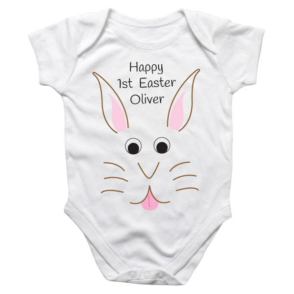 Easter Bunny Personalised Baby Grow