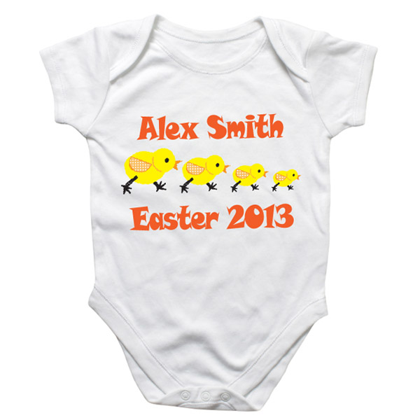 Easter Chick Personalised Baby Grow