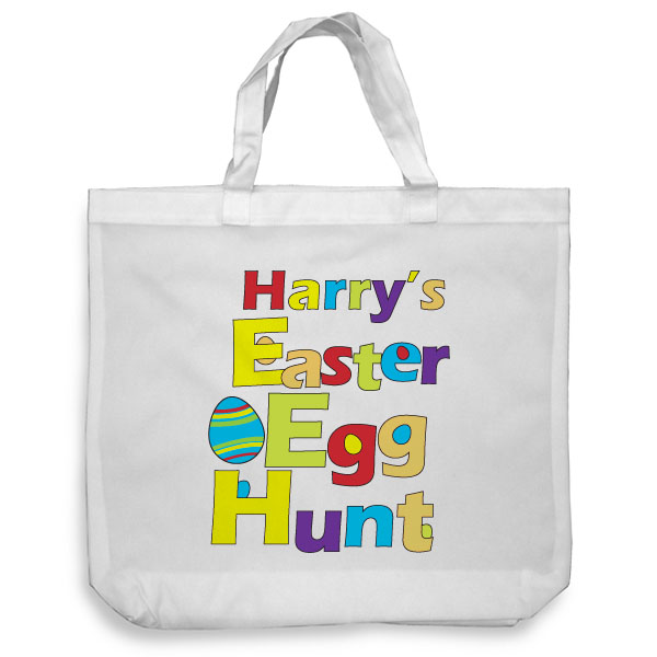 Personalised Easter Egg Hunt Tote Bag