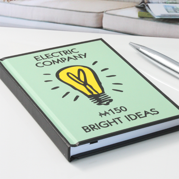 Bright Ideas Monopoly A6 Notebook - Monopoly Gifts