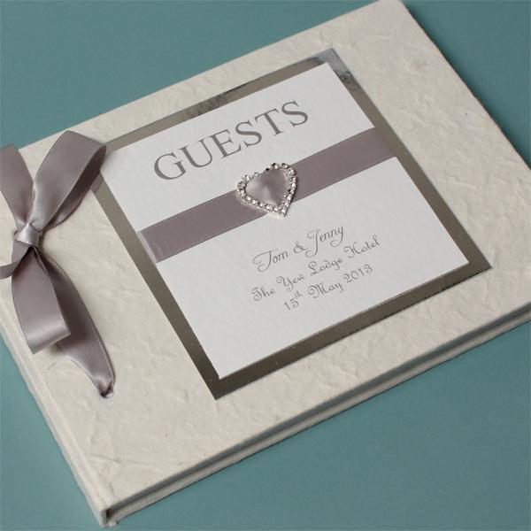 Personalised Elegant Heart Handmade Guest Book - Elegant Gifts