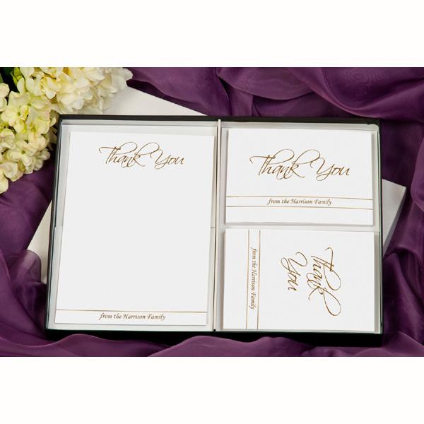 Elegant Personalised Thank You Stationery Postcards - Elegant Gifts