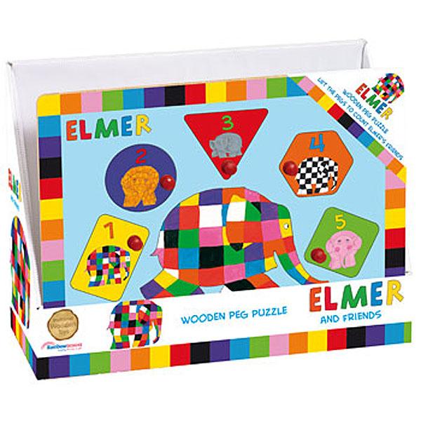 Elmer Peg Puzzle - Elmer Gifts