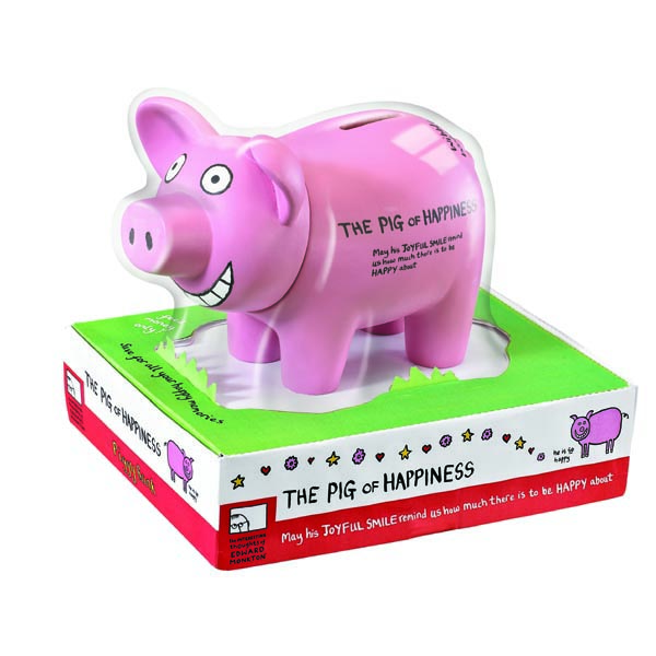 Edward Monkton Pig Of Happiness Piggy Bank