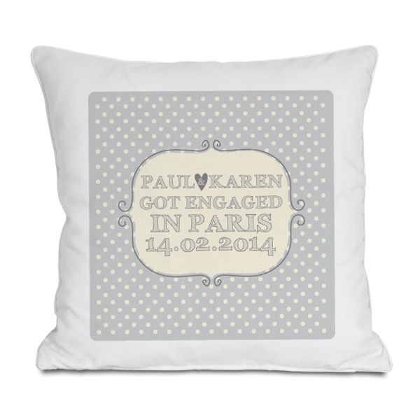 Personalised Engagement Cushion - Engagement Gifts
