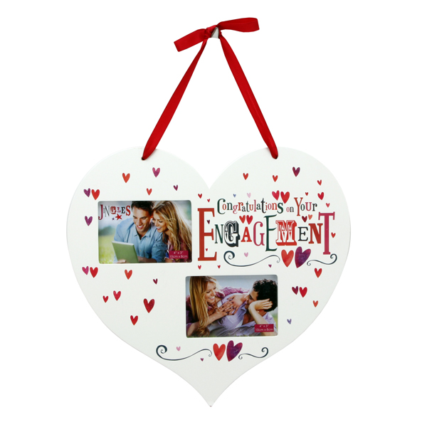 Engagement Hanging Heart Shaped Photo Frame - Engagement Gifts