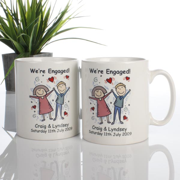 On Your Engagement Personalised Mug Single - Engagement Gifts