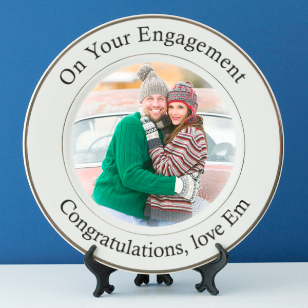 Personalised Engagement Photo Plate - Engagement Gifts