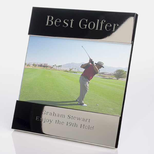Engraved Best Golfer Photo Frame