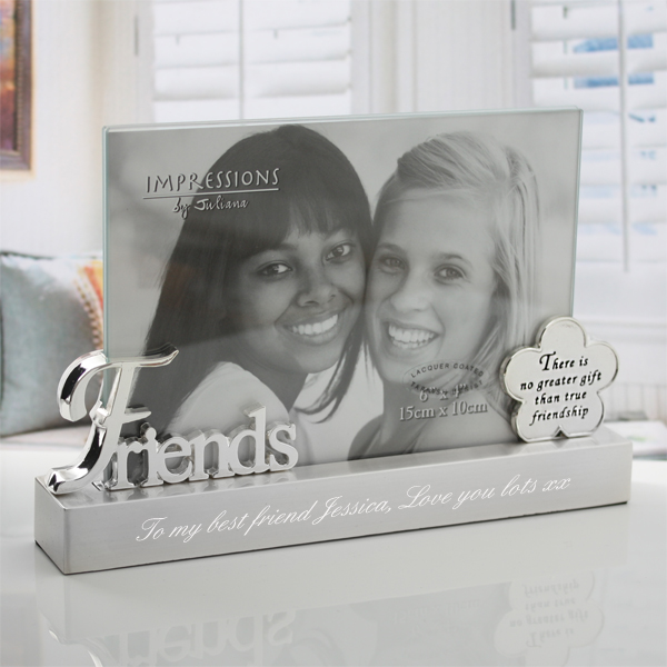 Engraved Glass Panel Friends Photo Frame