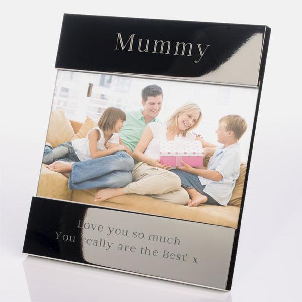 Engraved Mummy Shiny Silver Photo Frame - Shiny Gifts
