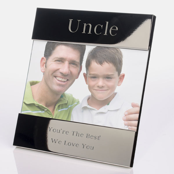 engraved uncle photo frame the gift experience