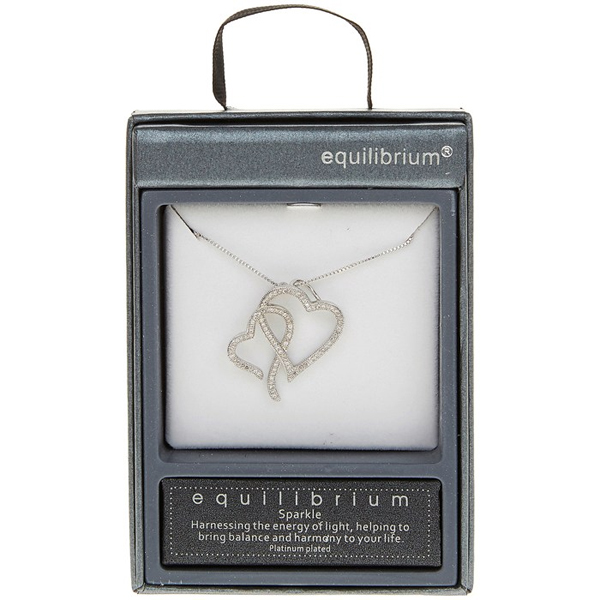 entwined hearts necklace in personalised box