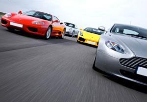 Four Supercar Driving Blast
