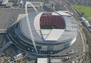 London Football Stadium Helico...