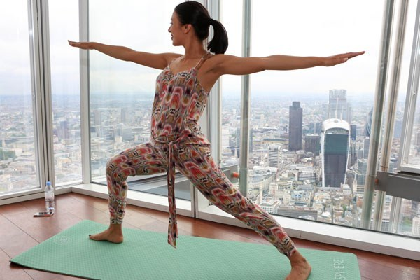 Yoga For Two At The View From The Shard
