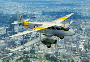 Dragon Rapide Flight Over London