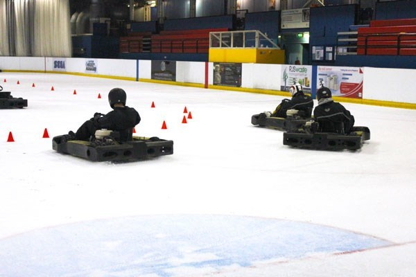 Karting On Ice For Two...