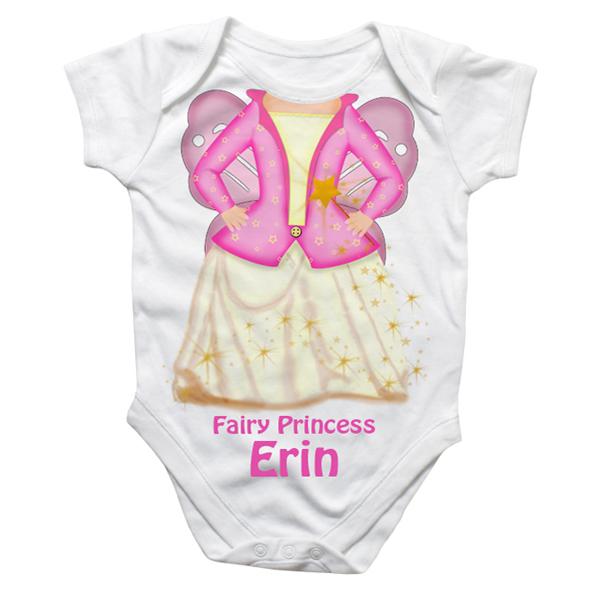 Personalised Fairy Princess Baby Grow - Babygrow Gifts