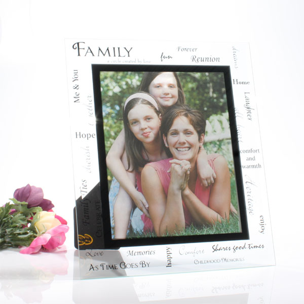 Moments Large Family Glass Frame - Family Gifts