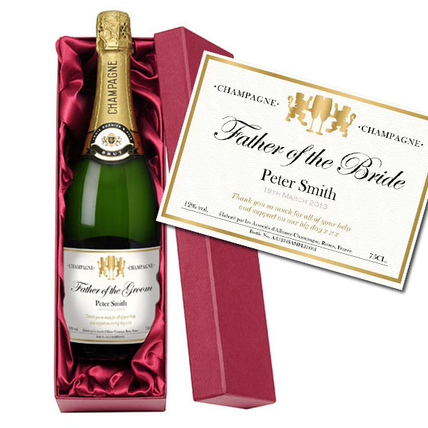 Father of the Bride Personalised Champagne Luxury Gift Box