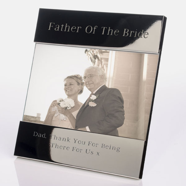 Engraved Father Of The Bride Photo Frame