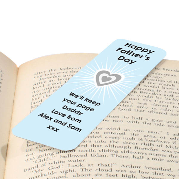 Personalised Fathers Day Bookmark