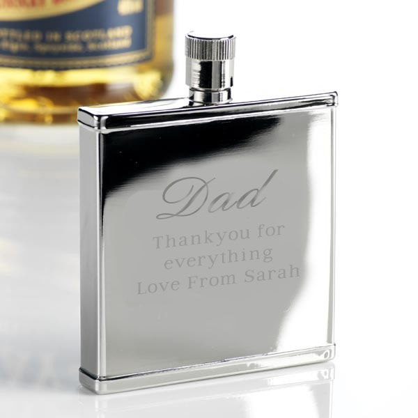Father`s Day Square Shape Hippy Thin Flask
