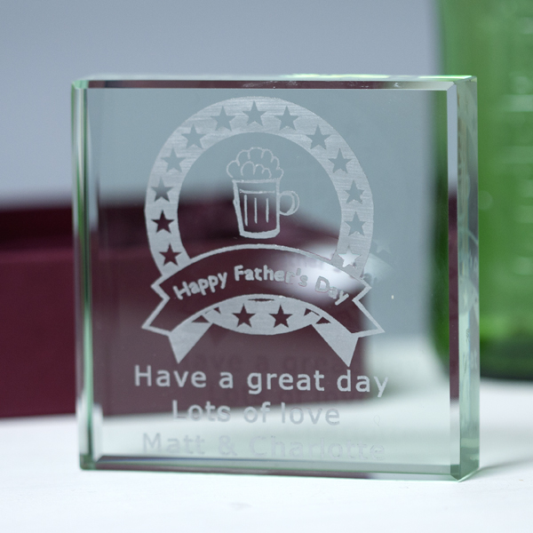 Father's Day Glass Keepsake