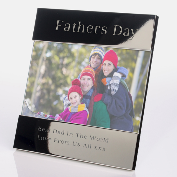 Engraved Fathers Day Photo Frame - Fathers Day Gifts