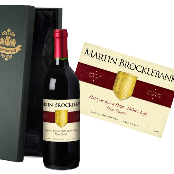 Personalised Fathers Day Wine Luxury Gift Box - Fathers Day Gifts