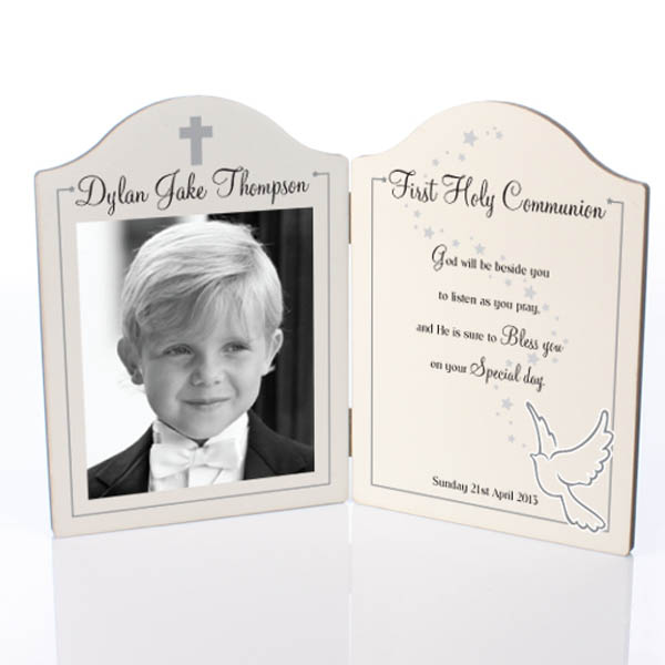 First Holy Communion Photo Message Plaque - First Holy Communion Gifts