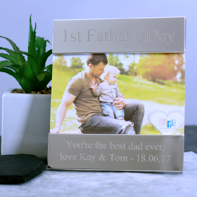 1st Father's Day Personalised Photo Frame