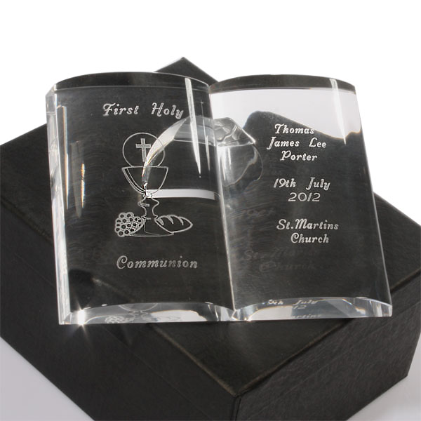 Personalised First Holy Communion Crystal Bible - First Holy Communion Gifts