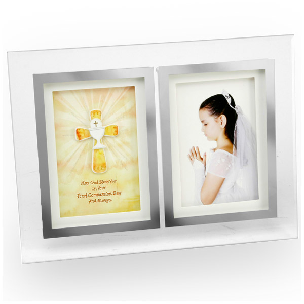 First Holy Communion Glass Photo Frame - First Holy Communion Gifts