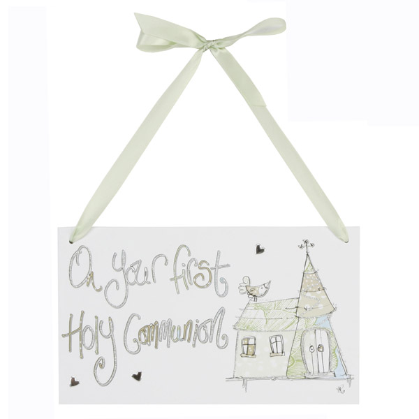 On Your First Holy Communion Hanging Plaque - First Holy Communion Gifts