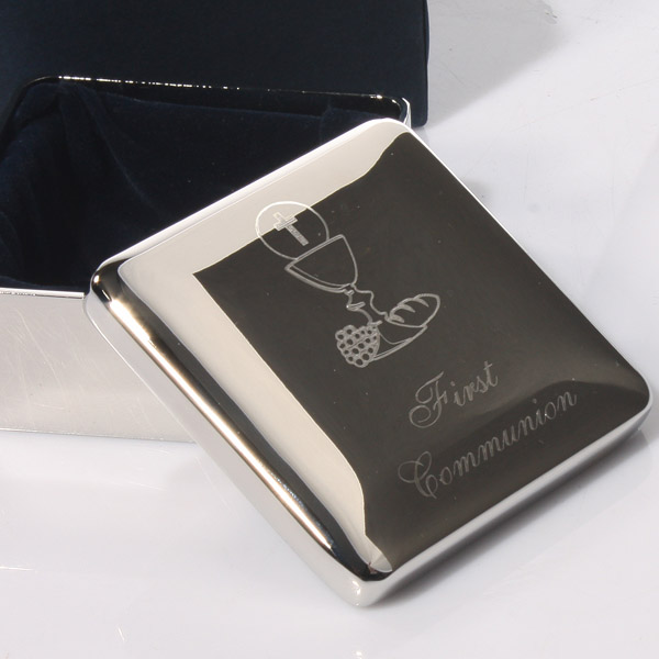 Engraved First Communion Treasure Box