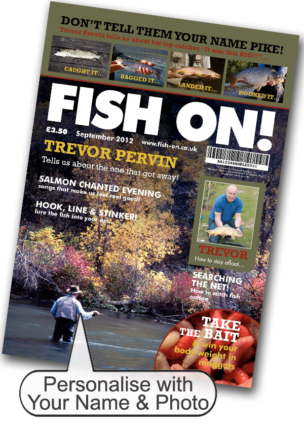 Fishing Magazine Spoof Silver Frame - Fishing Gifts