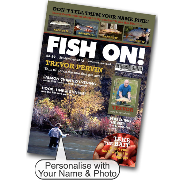 Fishing Magazine Spoof Black Frame - Fishing Gifts